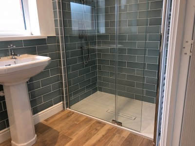 Orbital Bathrooms fitted the shower, Swindon